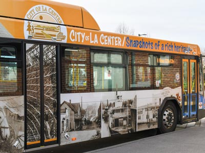 Take a look at all of our community-themed buses