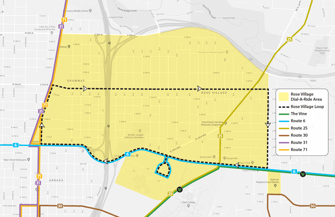 Rose Village Connector Map approved