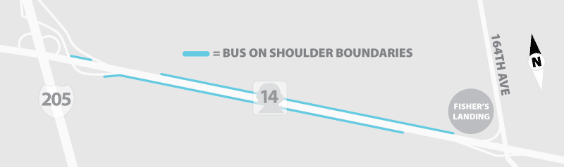 Bus on Shoulder Map Transitions